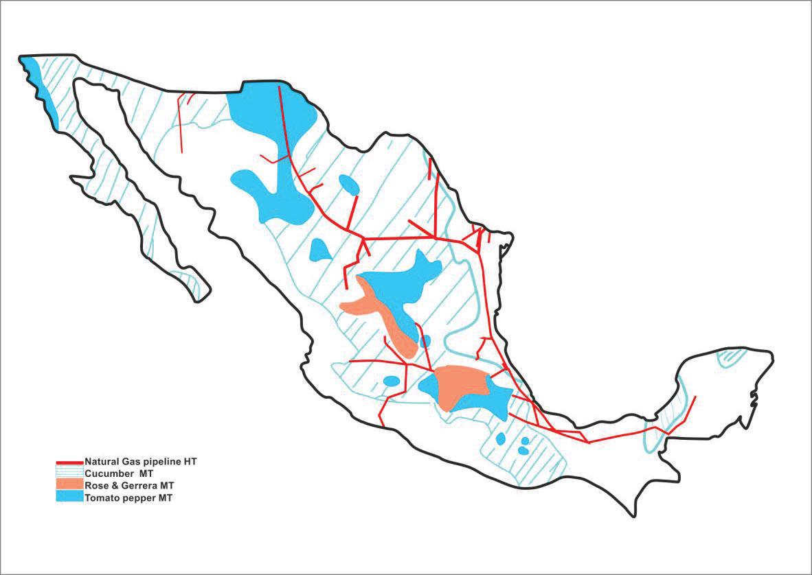 نقشه مکان های مناسب ساخت گلخانه