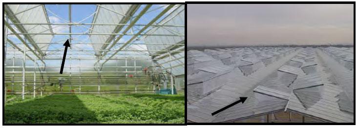 سرمایش غیر فعال گلخانه از طریق تهویه از سقف