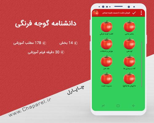 اپلیکیشن دانشنامه آموزش کشت گوجه فرنگی