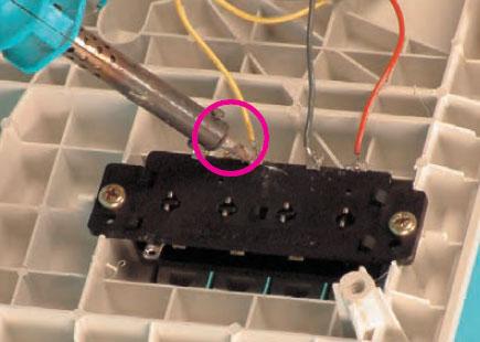 اتصال سرسیم دور متوسط موتور به ترمینال کلید پنکه