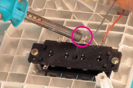 اتصال سرسیم دور زیاد موتور به ترمینال کلید